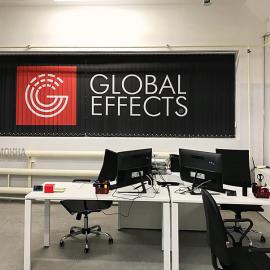 Вертикальные тканевые жалюзи с логотипом Global effects