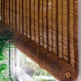 Распродажа рулонных штор из бамбуковой соломки