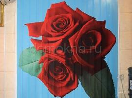 """Вертикальные тканевые жалюзи с фотопечатью """"Цветы"""""""