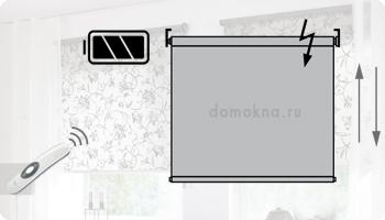 Комплект автоматики AMIGO (АМИГО) для классических рулонных штор и штор зебра с аккумуляторной батареей