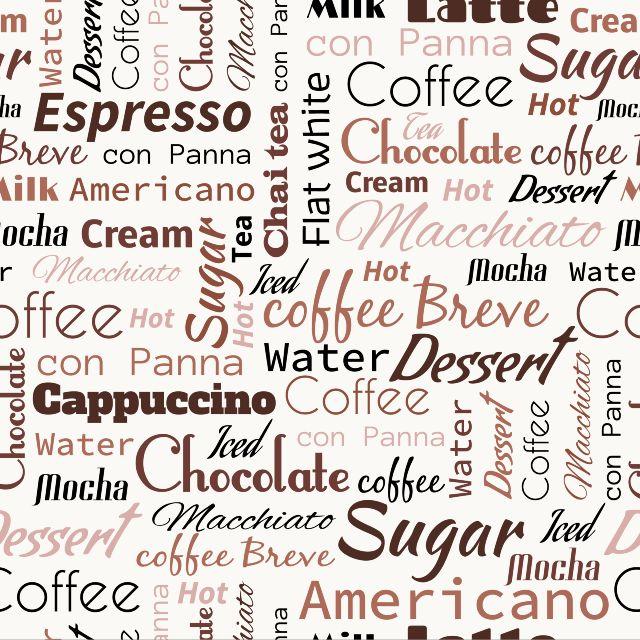 Фотожалюзи рулонные   Кофейные слова - рулонные шторы для кухни