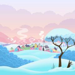 Зимний фон для рулонной шторы