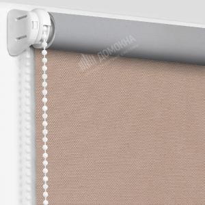 Рулонные шторы МИНИ - Альфа Алю блэкаут светло-коричневый