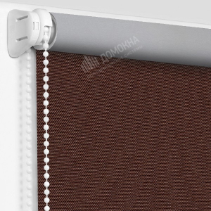 Рулонные шторы МИНИ - Альфа Алю блэкаут темно-коричневый