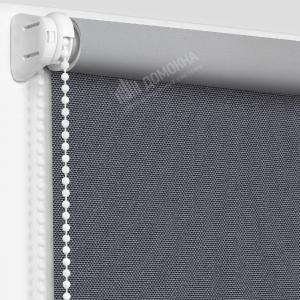 Рулонные шторы МИНИ - Альфа Алю блэкаут темно-серый
