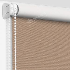 Рулонная штора альфа блэкаут светло-коричневый