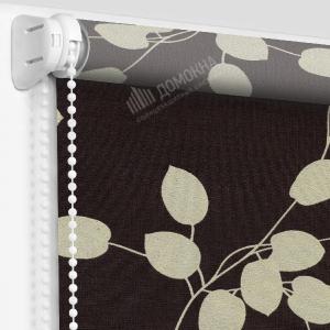 Рулонная штора аллея темно-коричневый