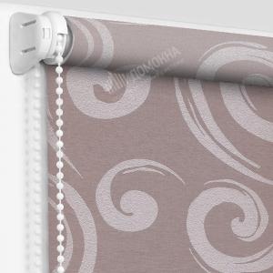 Рулонные шторы с рисунком анжу лиловый