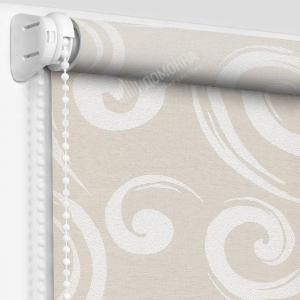 Рулонные шторы с рисунком анжу светло-бежевый