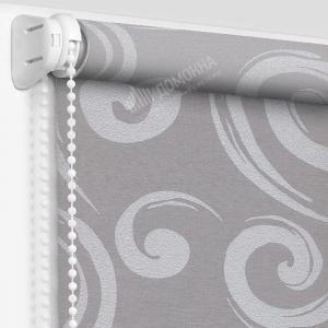 Рулонные шторы с рисунком анжу светло-серый