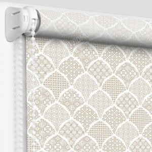 Рулонные шторы с рисунком арабика платина