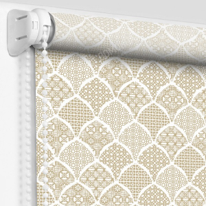 Рулонные шторы с рисунком арабика золото