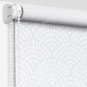 Рулонная штора ажур белый