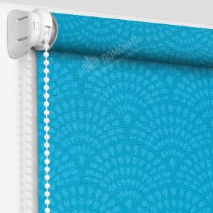 Рулонная штора ажур бирюзовый