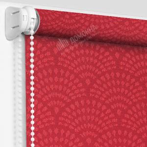 Рулонная штора ажур красный