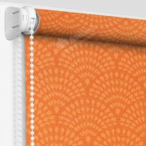 Рулонные шторы МИНИ - Ажур оранжевый