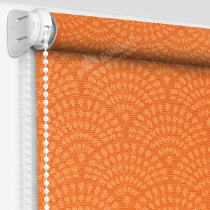 Рулонная штора ажур оранжевый