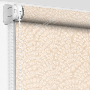 Рулонная штора ажур персиковый