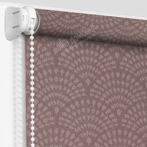 Рулонная штора ажур светло-коричневый