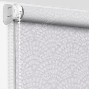 Рулонная штора ажур светло-серый