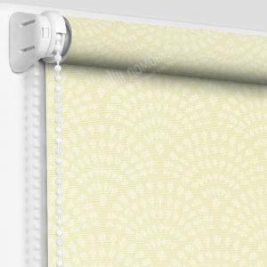 Рулонная штора ажур светло-желтый