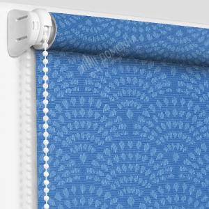 Рулонные шторы МИНИ - Ажур тёмно-голубой
