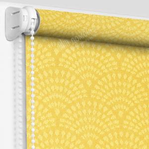 Рулонная штора ажур желтый