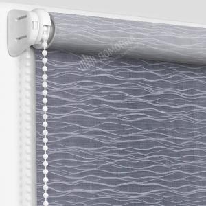 Рулонные шторы с рисунком бланш серый