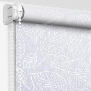 Рулонные шторы с рисунком блюз белый