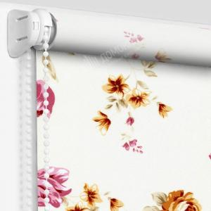 Рулонные шторы с рисунком болгарская роза розовый