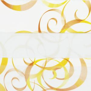Рулонные шторы ZEBRA - АВАНГАРД 3499 оранжевый