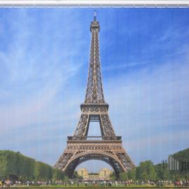 """Вертикальные тканевые жалюзи с фотопечатью """"Париж"""""""