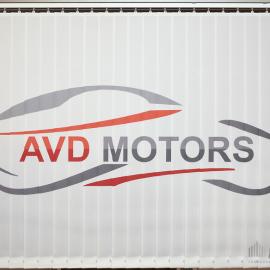 Вертикальные тканевые жалюзи с логотипом AVD MOTORS