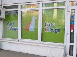 Вертикальные тканевые жалюзи с логотипом Cats & Dogs
