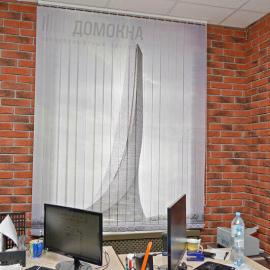 Вертикальные тканевые жалюзи с фотопечатью Архитектура