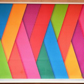 Классическая рулонная штора с фотопечатью абстракция