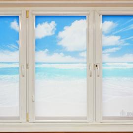 """Рулонные шторы """"Уни 2"""" с фотопечатью """"Море"""""""