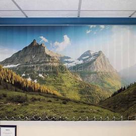 """Вертикальные тканевые жалюзи с фотопечатью """"Горы"""""""