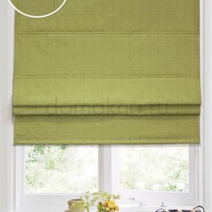Римские шторы зеленые