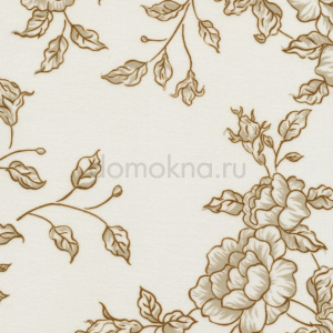 Закрытые рулонные шторы китайская роза коричневая