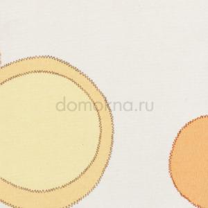Закрытые рулонные шторы рондо оранжевый