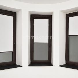 Рулонные шторы уни2 с коричневой фурнитурой 1